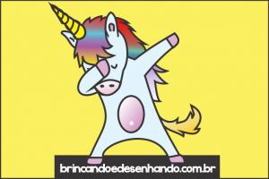 Como Desenhar Unicornio Kawaii Comemorando Vitória