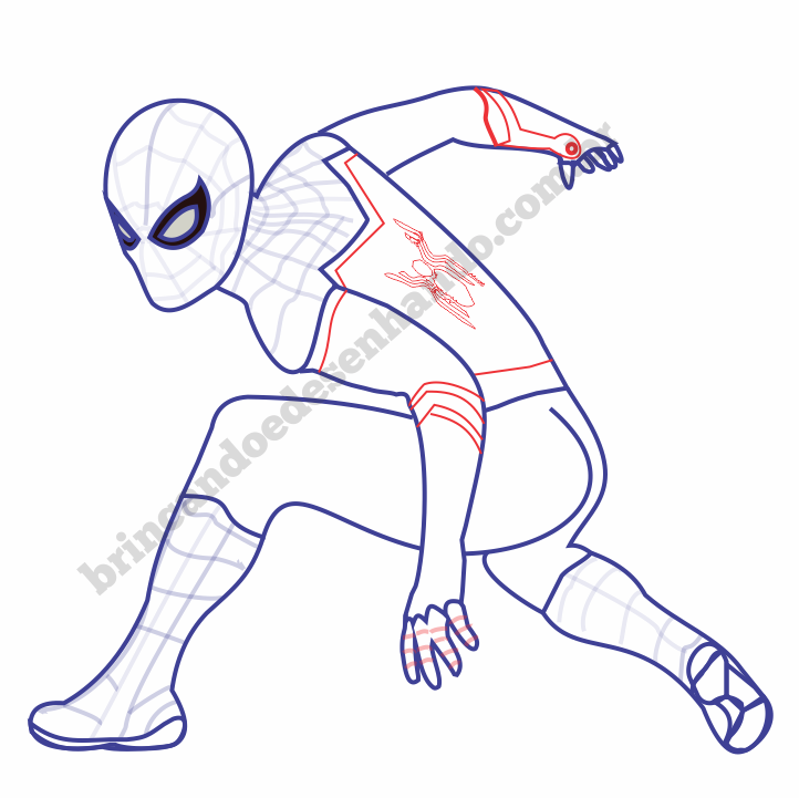 Como Desenhar O Homem Aranha Filme Longe De Casa Brincando