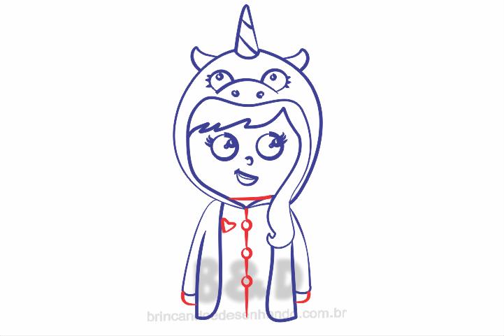 Como Desenhar Meninas Unicornio Estilo Kawaii Brincando E Desenhando