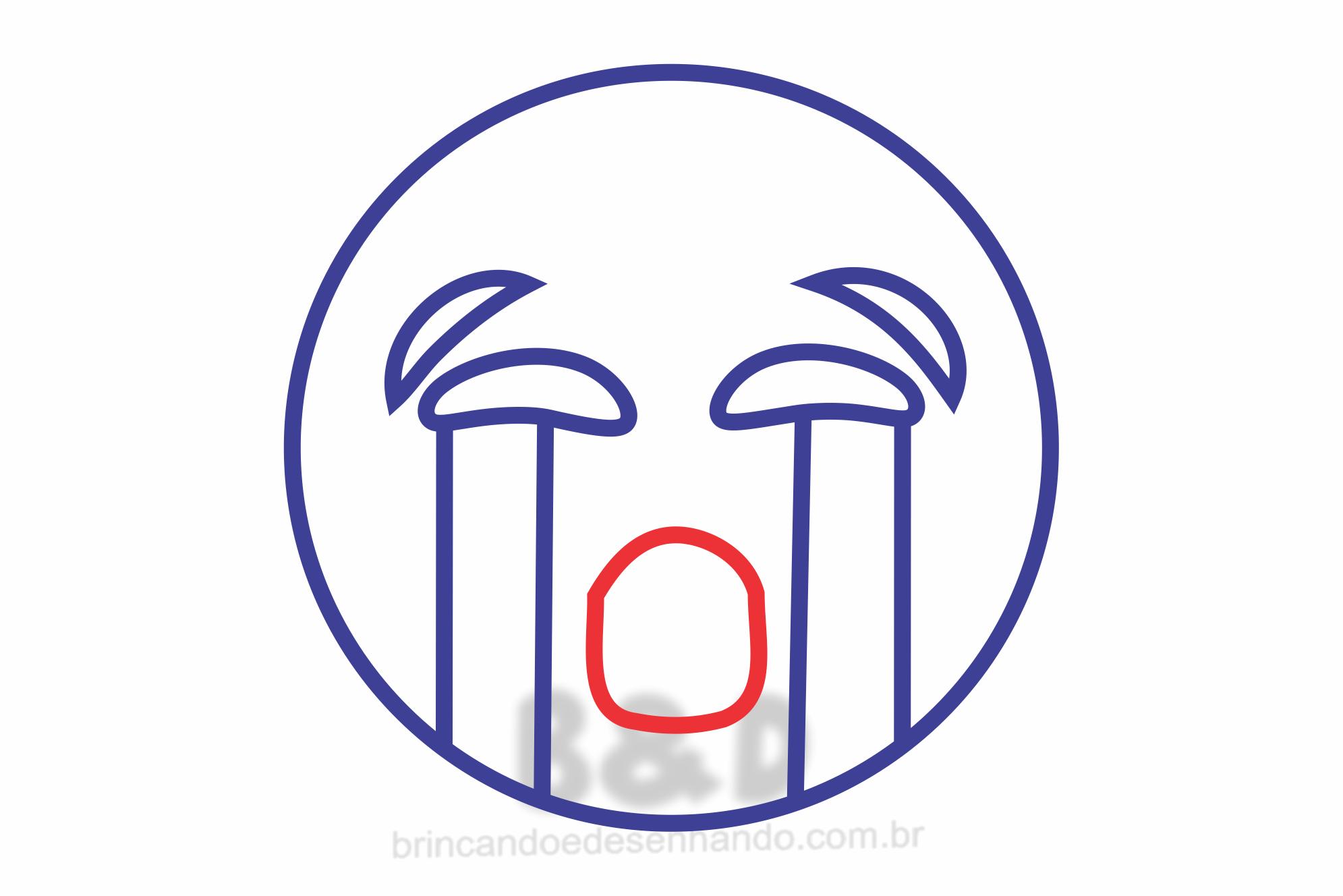 Como Desenhar Emojis Chorando Whatsapp Brincando E Desenhando
