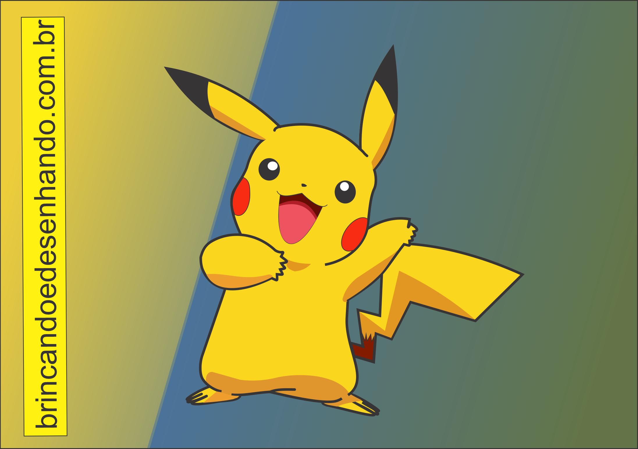 Como Desenhar Pokemon Pikachu Brincando E Desenhando