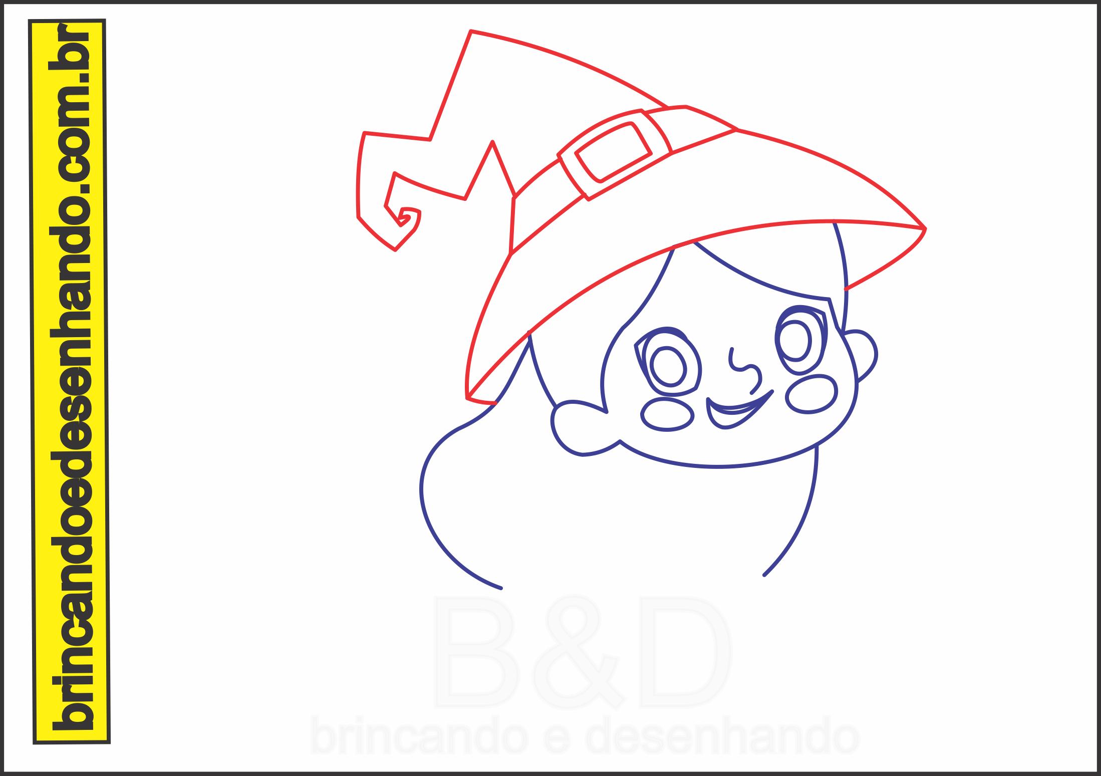Como Desenhar Uma Bruxa Passo A Passo Brincando E Desenhando