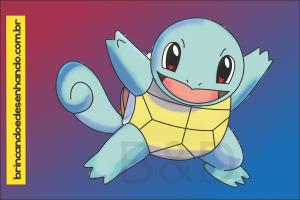 Como Desenhar Pokemon Squirtle Brincando E Desenhando